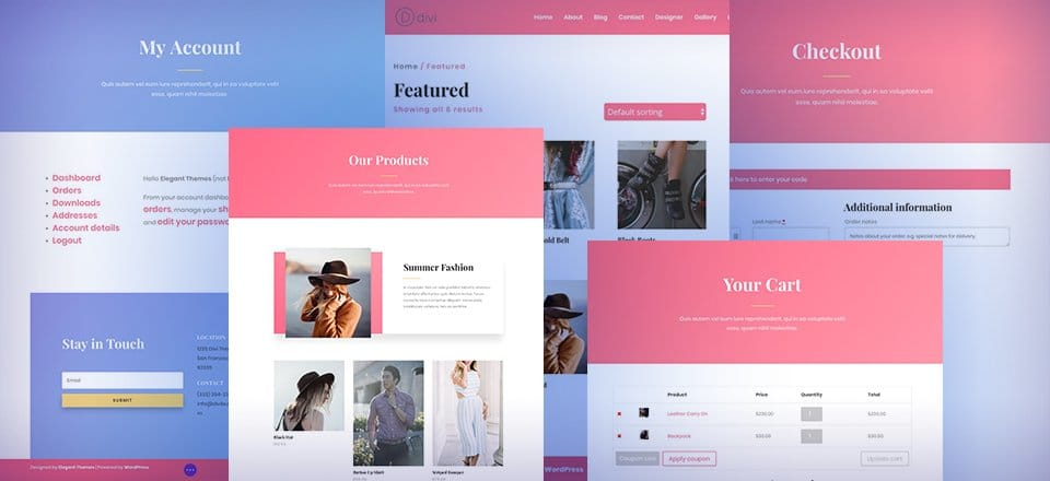 divi store layout pack - How to make a Divi eCommerce site in 2021