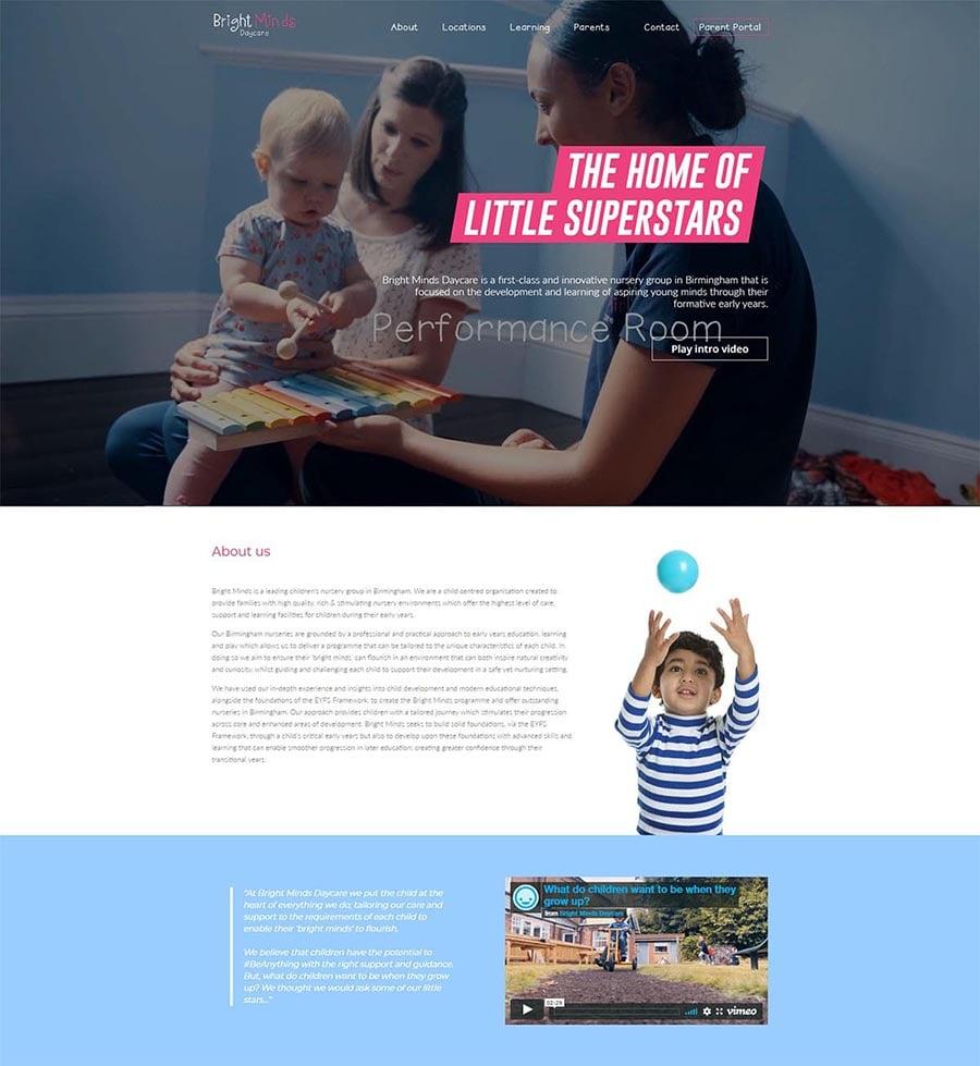 bright minds daycare portfolio min min 1 - Digital Marketing