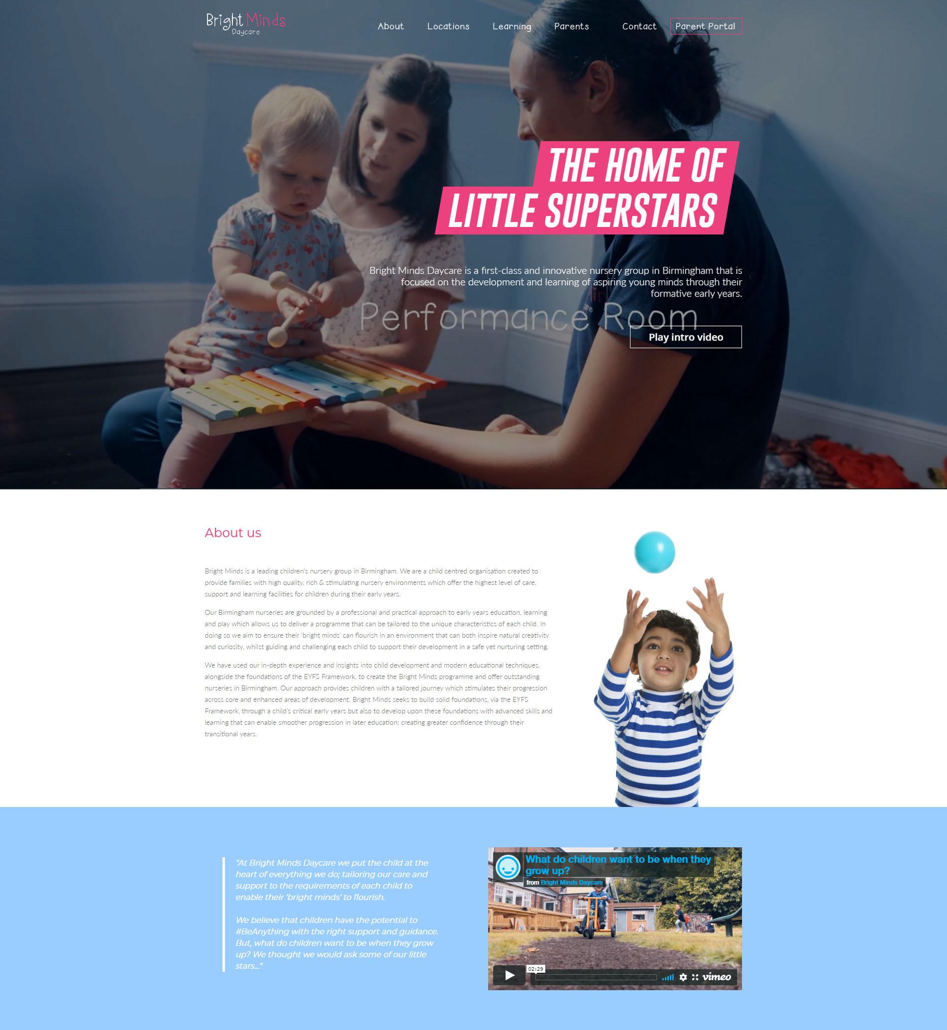 bright minds daycare portfolio - Portfolio