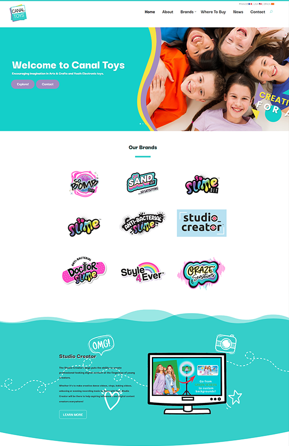 canal toys web design divi - Home