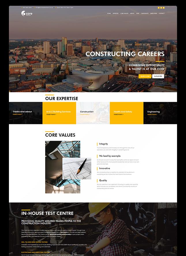 core portfolio web design 1 - Website Design Surrey