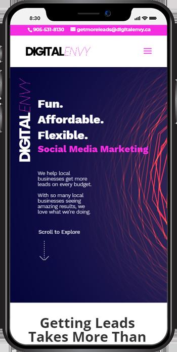 de mobile - Website Design Carshalton