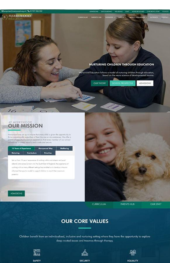 schhol divi web design - Home