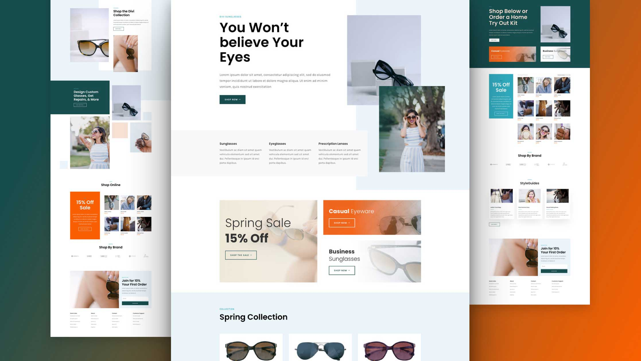 divi sunglasses shop layout pack featured image - How to convert visitors into sales on your Divi eCommerce site in these easy steps