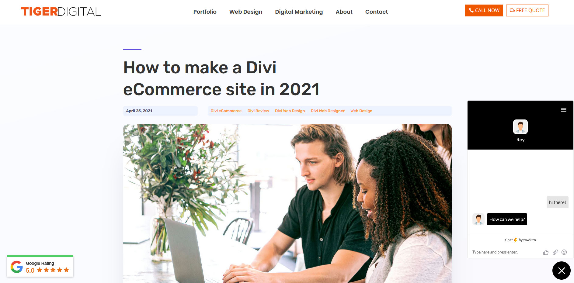 live chat divi - How to convert visitors into sales on your Divi eCommerce site in these easy steps