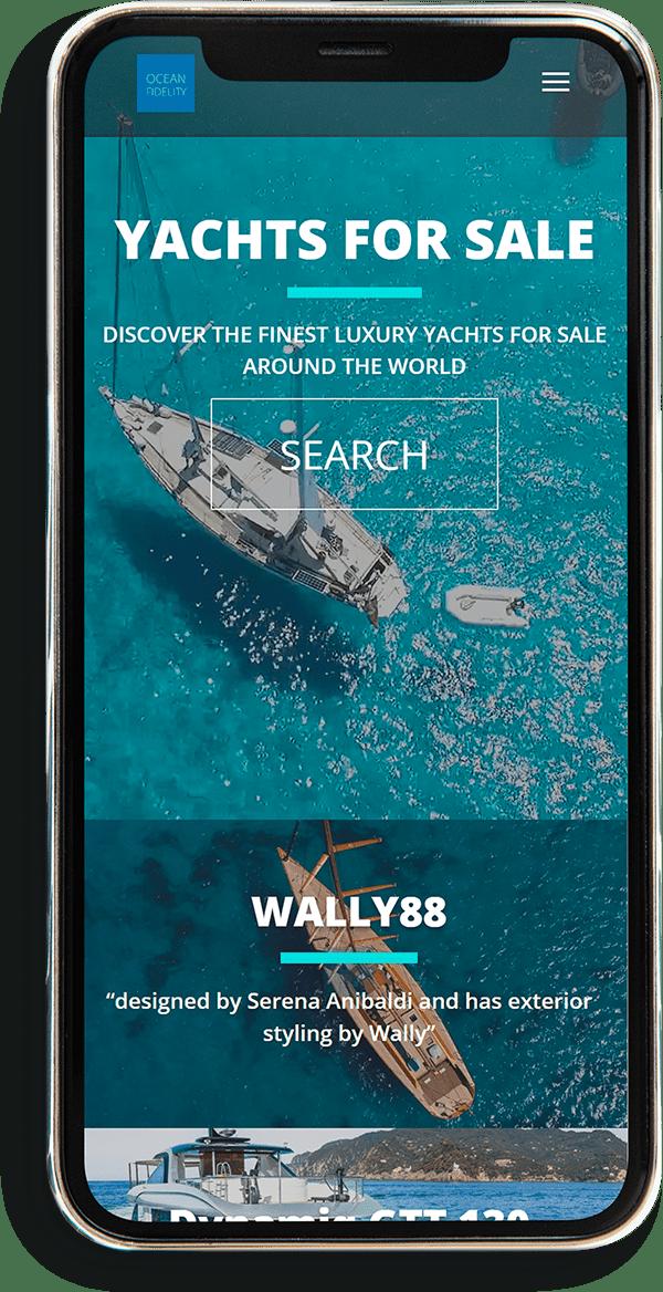 ocean phone divi design min min - Website Design Wallington